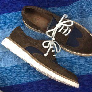 Eleventy Wingtip Suede Lace Up Shoe Sneaker